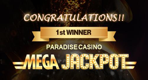 MEGA JACKPOT 1st WINNER
