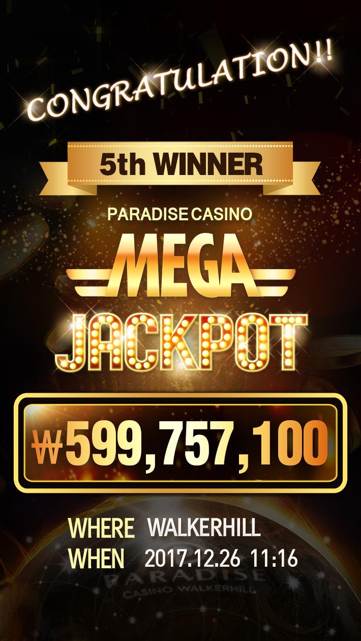 MEGA JACKPOT 5th WINNER