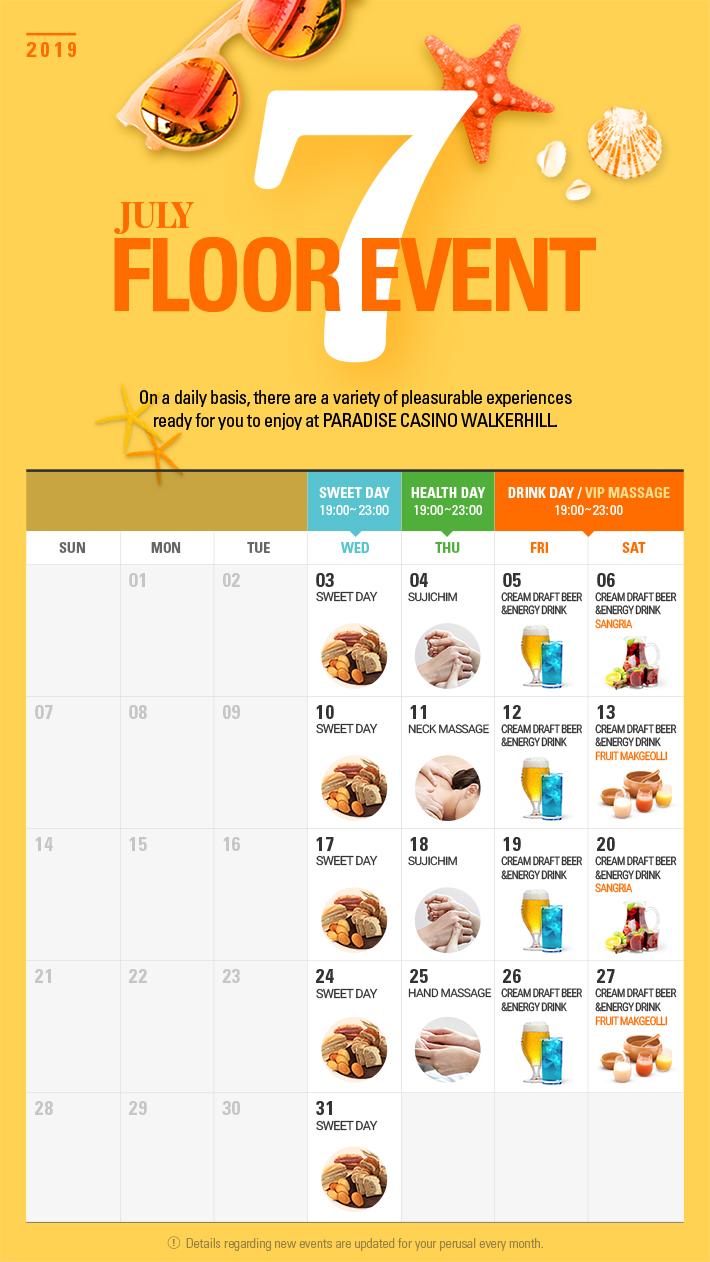Floor Event in JULY