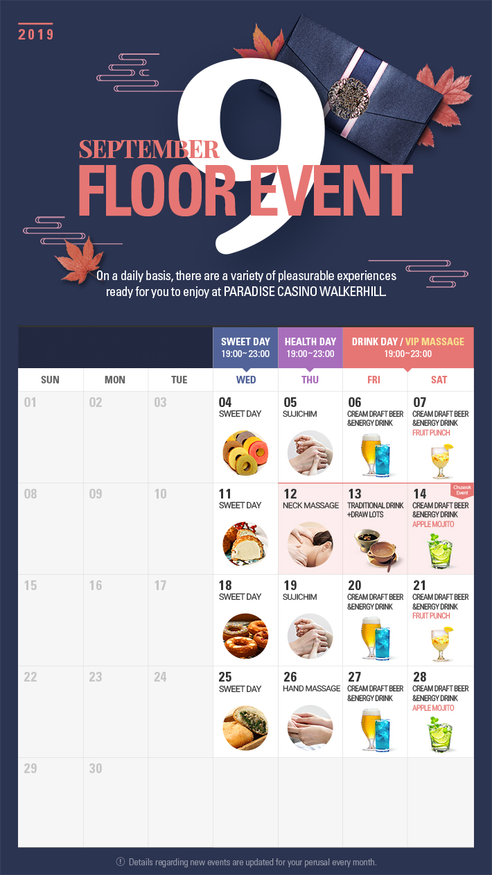 Floor Event in SEPTEMBER