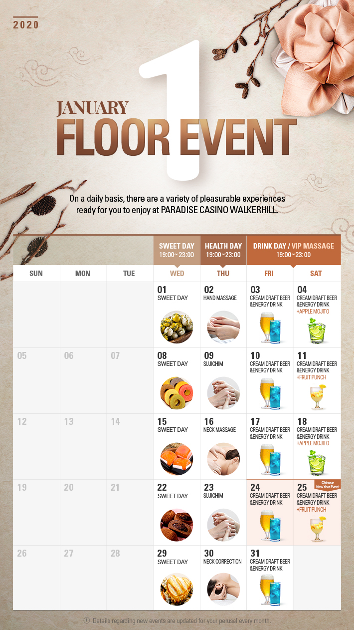 Floor Event in JANUARY